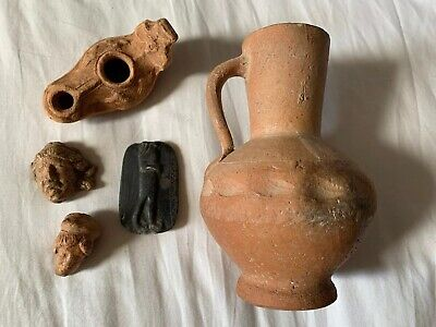 Collection Of Ancient Pottery Greek Roman Egyptian