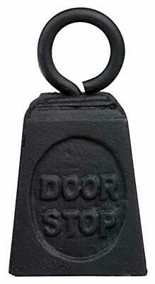 Weight Door Stop Weighted Heavy Floor Doorstop Cast Iron Black With Ring Novelty
