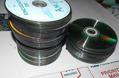 Lot of CDs for arts & crafts, decor approx 125  Compact Disc crafts used L@@K!