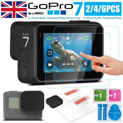 2019 LCD Screen Lens Cap + Tempered Glass Screen Protector For GoPro Hero 5 6 7