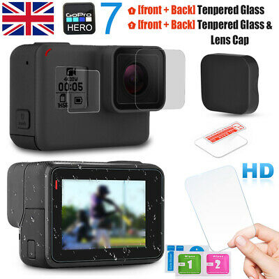 Gopro Hero 7/6/5 LCD Clear Screen Protector Film Tempered Glass Lens/Cap/Cover