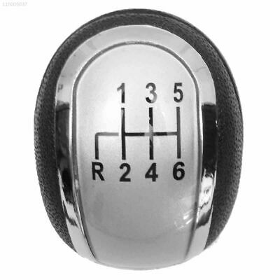 0230 PU Leather Gear Shift Knob Car Interiors Gear Knob Plug-In Black Silver