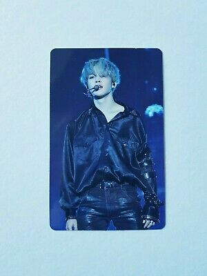 """K-Pop Bts World Tour """"Love Yourself"""" Blu-Ray Europe Official Jimin Photocard"""