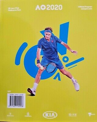 The Australian Open Tennis Official PROGRAM Guide 2020 - NEW