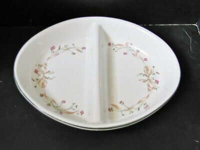 """ETERNAL BEAU 11"""" Oval Divided Vegtable SERVING DISH / JOHNSON BROTHERS"""