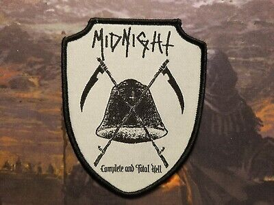 Midnight Complete And Total Hell Speed Black Thrash Metal Patch Abigail Barbatos