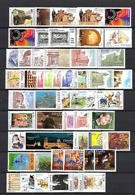 SPAIN 2001-2002 Valid Postage Lot (Face 105 Euro) or for Collector MINT NH