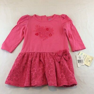 Vitamin Kids Top Blouse  Size 24 months Girls Pink  Long Sleeve  Heart Bow