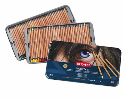 Derwent Lightfast Professional Quality Oil Based Colour Pencils Complete 72 Tin