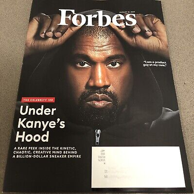 Kanye West Forbes Magazine August 31, 2019 Celebrity 100 Issue