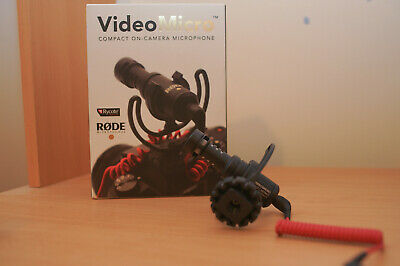 Rode VideoMicro Compact On Camera Microphone DSLR mic video micro & wind shield