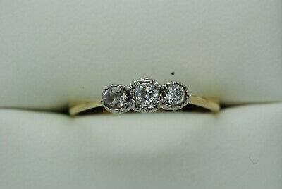 Stunning  Early 20th Century 18ct Gold and Diamond Ring - Size P