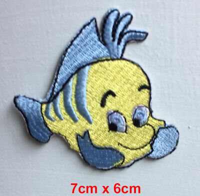The little mermaid fish yellow badge clothes Iron on Sew on Embroidered Patch