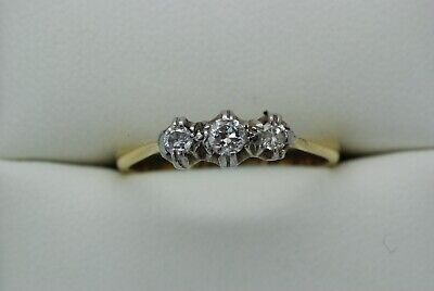 Stunning  Early 20th Century 18ct Gold and Diamond Ring - Size N