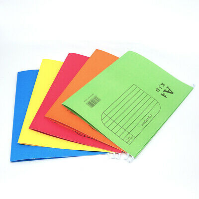 10 Pcs A4 Hanging Suspension Files Tabs Inserts Folder Filing Cabinet 5 Colors