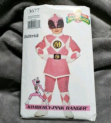 Butterick 3677 Kimberly Pink Power Ranger Costume Pattern Sz 4 - 14 See Descrip