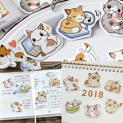 45 Pcs Diary Label Stickers Cartoon Cute Scrapbooking DIY Stickers Tags Decor