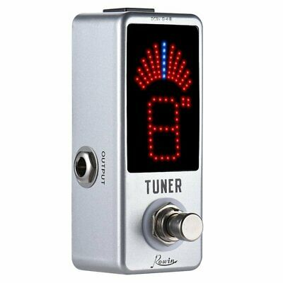 Rowin Chromatic Mini Pedal Tuner ± 0.1 Cent True Bypass