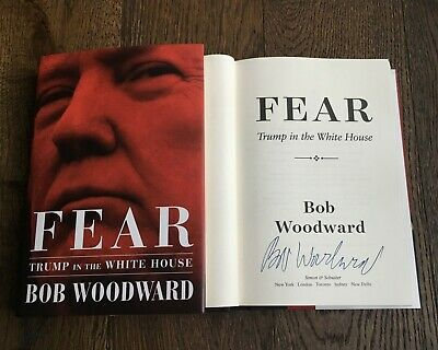 Bob Woodward Signed Fear First Edition Book Coa Donald Trump In The White House