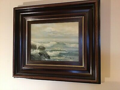 Antique vintage original framed and signed oil painting by puerto