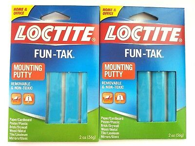 2-2oz LOCTITE FUN-TAK Mounting Putty Reusable Removable Adhesive Sticky NONTOXIC