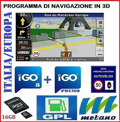 Eonon - Erisin Sd Card 16Gb Per Autoradio Cinese Italia Europa  Autovelox/2019