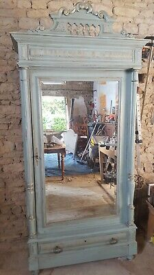 French Antique Armoire ( Duck Egg Blue)