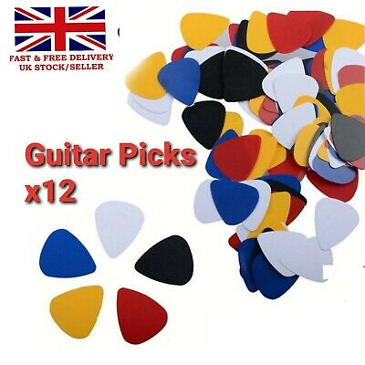 8x Pack Thin Celluloid Guitar Picks Plectrums For Electric Acoustic and Bass