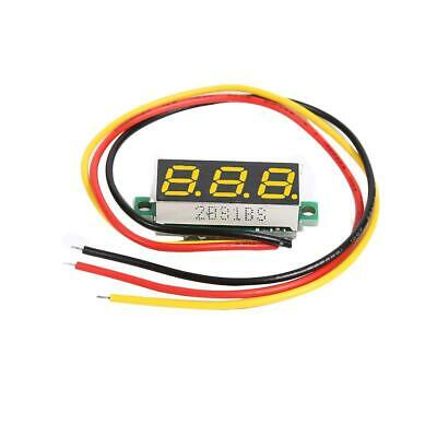 DC 0-100V 3 Wires Mini Gauge Voltage Meter Working Voltmeter LED Display Yellow