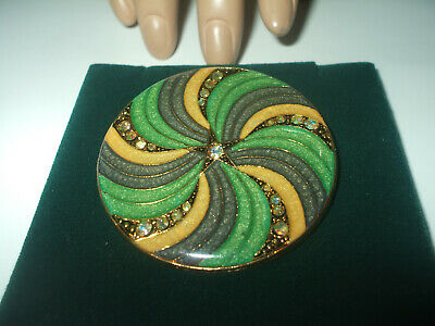 Superb Rare Vintage French Art Deco 'Signed' Pierre Bex Brooch With Ab Crystals