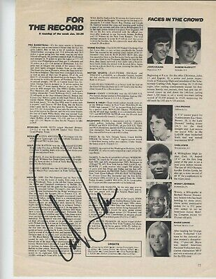 Carl Lewis SIGNED  magazine page Olympic Gold Medalist AUTOGRAPHED High School