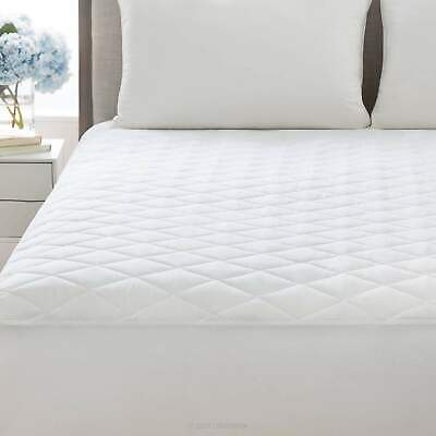 """Cal King Quilted Mattress Protector Pad Topper Cover 16"""" Deep Fitted Bed Sheet"""