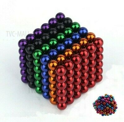Rainbow Magnet Metal Balls Colorful Sculpture Desk Office Magnetic Build Nickel