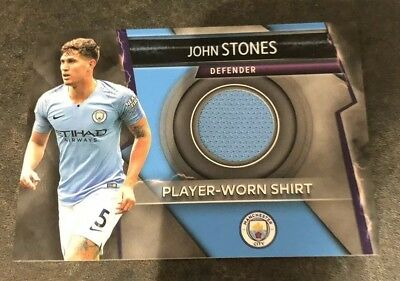 Topps Match Attax ULTIMATE 2018-2019 ☆ RELIC/PATCH CARD John Stones MAN CITY