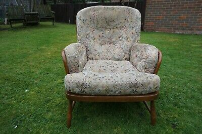 Single VINTAGE Retro Golden Dawn ERCOL JUBILEE EASY CHAIR ARMCHAIR