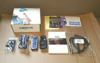 NOKIA 3220 working vintage cell phone - complete in box - Rogers locked