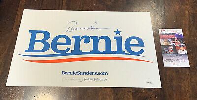 """BERNIE SANDERS 2020 Official Rally Placard ~ White ~ Double-Sided ~ 15.5/"""" x 10/"""""""