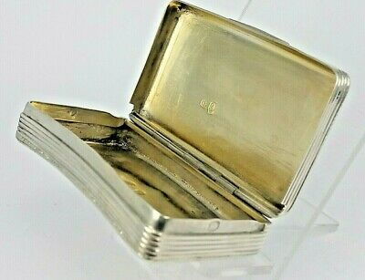 Continental silver snuff box hallmarked possibly French