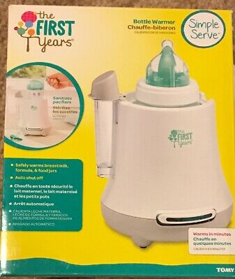 The First Years Simple Serve Bottle Warmer - Warms Breastmilk Formula Food