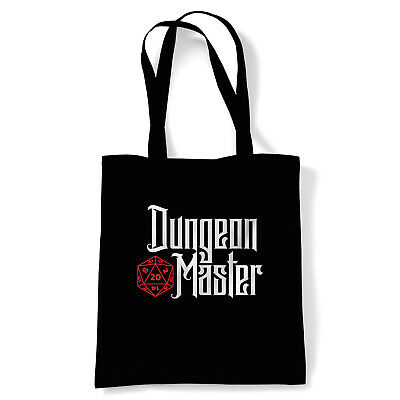 Dungeon Master, Tote - Hobbies Geek DND Reusable Shopping Canvas Bag Gift