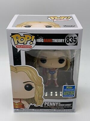 FUNKO POP Big Bang Theory Penny as Wonder Woman In Hand SDCC Shared Same Day FS