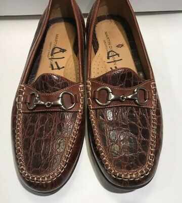 2a4f397cac36a Preowned Martin Dingman Saxon II Horse Bit Loafer Size 12M Men Dress Shoes