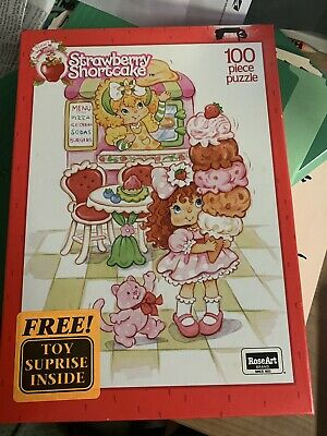 Vintage Strawberry Shortcake Ice Cream Parlor 100 Piece Puzzle by RoseArt 1992