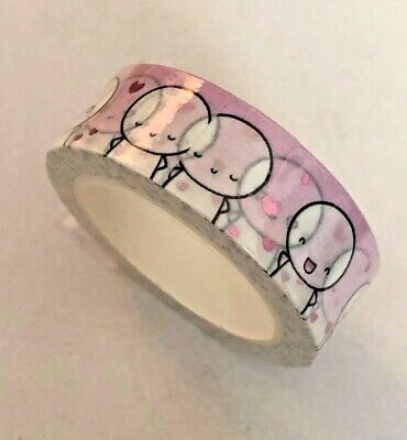 NEW TCMC The Coffee Monsterz Co washi tape pink foiled hearts emoti 15 mm NEW