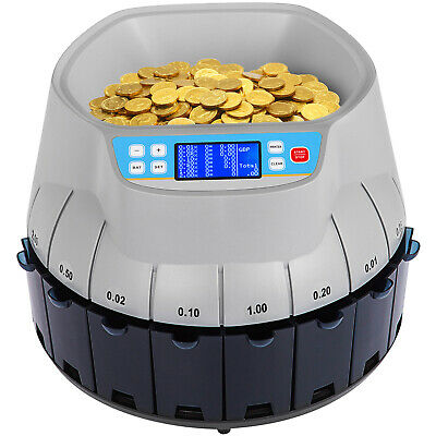 Electronic Coin Cash Currency Counter Sorter Machin LCD Screen Printable