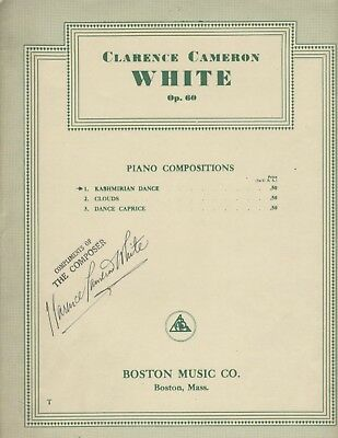 Rare African American Composer Signed Music Clarence Cameron White Boston