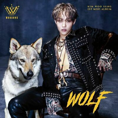 KIM WOO SUNG - WOLF(1st Mini) CD+Photobook+Photocard+sticker+Poster+Tracking No.