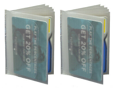 Set of 2 Plastic Wallet Insert Replacement Picture Card Holder Trifold 6 Page