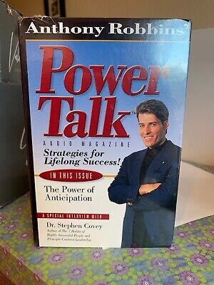 Anthony Robbins' Power Talk Audio Magazine Strategies For Lifelong Success Covey