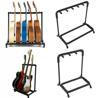 3 5 Way Multi Guitar Stand Holder Foldable Acoustic Electric Bass Guitar Rack